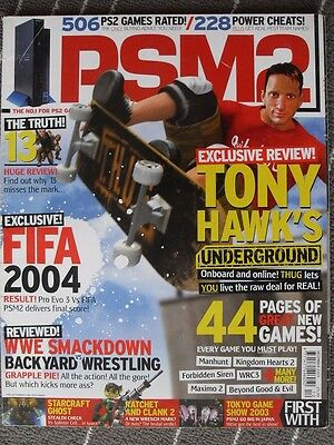 Psm2 Magazine Dec 2003  -  Tony Hawks Underground  -  Fifa 2004  -  Worms 3D