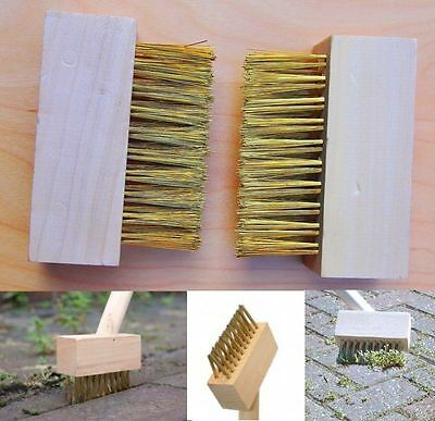 Block Paving Wire Brush Heads Patio Cleaning Moss Weeds Roots Brush Grout Gap ii