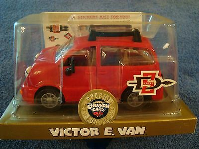 Chevron Cars San Diego Aztecs SDSU Sports Edition Victor E. Van with Stickers