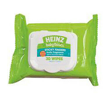 Heinz Baby Basics Sticky Fingers Hand And Face Wipes 30 NEW