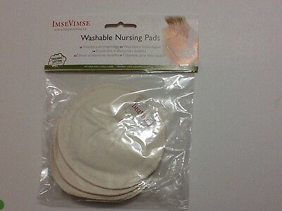 New in Package Imse Vimse Washable Organic Nursing Pads