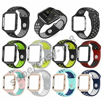 Tracker S/L Silicone Sport Band Bracelet Strap+Frame For Fitbit Blaze Tracker