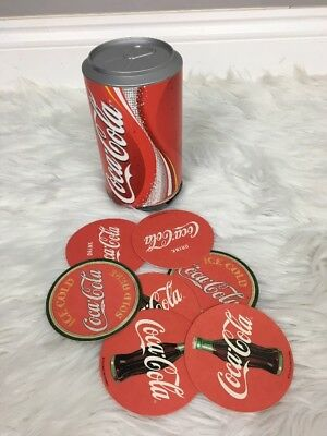 Coca-Cola Coasters in a Can with Vintage Style Double Sided Coasters W/ 20+