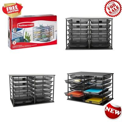 New Versatile Removable Mesh Drawers 12-Compartment Organizer Stackable Design