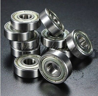 10Pcs 608z Sealed Deep Groove Ball Bearing Shielded Skateboard 8 x 22 x 7mm