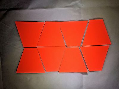 LION Set of 8 Trapezoids, 3M Scotchlite Reflective Material Red Orange LFH940