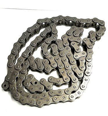 "DAYTON Carbon Steel Roller Chain, 80 ANSI Chain Size, 1"" Pitch, 2YDW9, 10 FT"