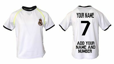 69ec06442 Real Madrid Soccer Jersey Youth Kids Training -Add Your Name   Number Ronaldo  7