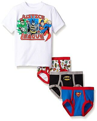Justice League Boys' 3-Pack Underwear and T-Shirt Set