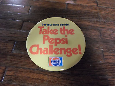 """Take The Pepsi Challenge"" VIntage Pepsi Cola Pin"