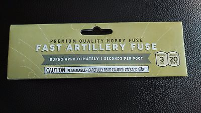 "Fast Artillery Hobby ""CANNON FUSE"" Safety Fuse Labels +"