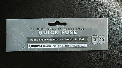 "(1) Quick White Hobby ""CANNON FUSE"" Safety Fuse Label"