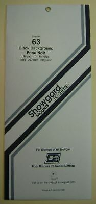 Showgard size 63 black hingeless stamp mount NEW unopened pack 1st quality 215mm