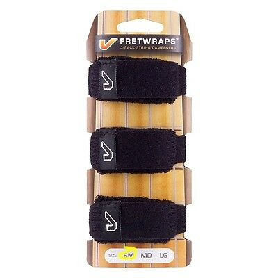 Gruv Gear FretWraps String Muters 3-Pack Black (Small)