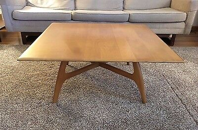 Vintage Heywood Wakefield Wheat Square Cocktail Table M1579G No.1