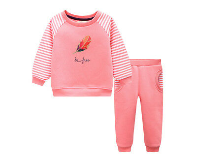 BQT Baby/Toddler Feather Fleecy 2 Piece Set - Dusty Pink