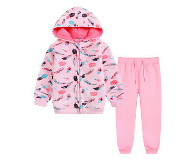 BQT Baby/Toddler Feather Fleecy 2 Piece Set - Pink Marle