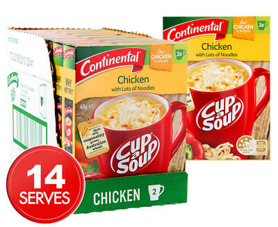 7 x Continental Cup A Soup Chicken w/ Lots Of Noodles 2pk