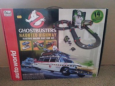 Ghostbusters Haunted Highway Electric Racing Slot Car Set Auto World AW