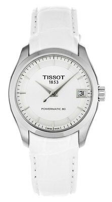 Tissot Couturier Powermatic 80 WHT Leather Automatic Women Watch T0352071603100