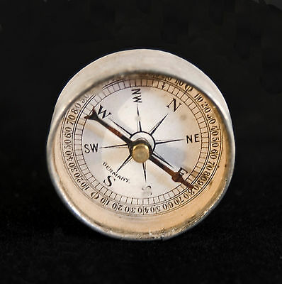 Antique WW1 WWI Field Pocket Compass Signal Mirror Made in Germany