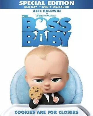 The Boss Baby(Blu-Ray+Dvd+Digital Hd)W/slip Cover Special Edition New