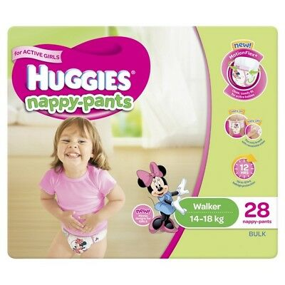 Huggies Nappy Pants Walker Girl 14-18kg 28 NEW Cincotta Chemist
