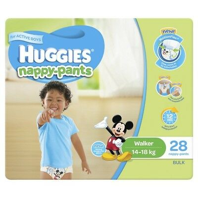 Huggies Nappy Pants Walker Boy 14-18kg 28 NEW Cincotta Chemist