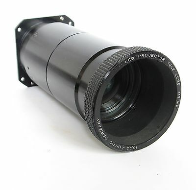 """ISCO LCD Projector Tele LENS 112mm; Mount 2 13/16"""" x 3 1/16"""""""