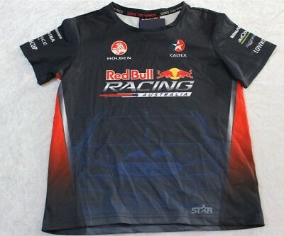 Red Bull Racing Australia Junior Team Sublimated T-Shirt Holden Youth Size 4 Bn