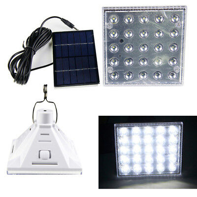 Solar Lamp 25 LED Lantern Multi-Function Emergency Camping Light Rechargeable