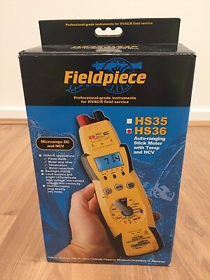 Fieldpiece HS36 True RMS Multimeter w/ACH4 Current Clamp,Backlight & Accessories