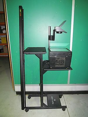 "Bell and Howell Medium 500 Overhead Projector on Trolley with 70"" Screen"