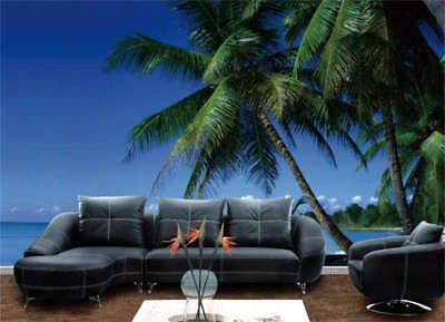 Palm Tree Blue Sky Full Wall Mural Photo Wallpaper Printing 3D Decor Kids Home