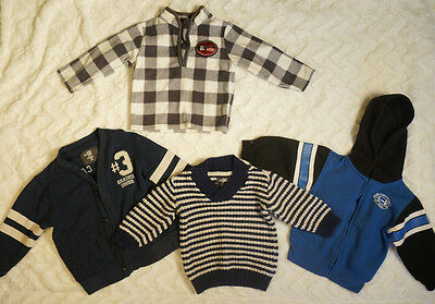Lot of Baby Boy Clothes 5 Outfits Sizes 12 to 24 months Sweaters Shirts