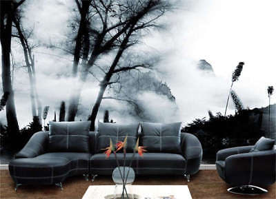 Painting Trees Fog Full Wall Mural Photo Wallpaper Printing 3D Decor Kids Home