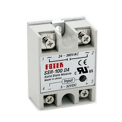 1pc Solid State Relay SSR-100DA 100A 3-32VDC/24-380VAC DC TO AC