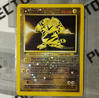 Pokemon card 1 ELECTABUZZ Reverse Holo Foil English PROMO Best of Game WINNER