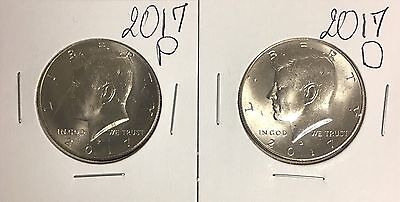 Set Of 2 Coins 2017 P&D 50 Cents Kennedy Half Dollar Uncirculated ( #C157)