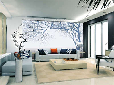 Tree Branch White Background Full Wall Mural Photo Wallpaper Print 3D Decor Home