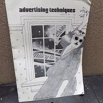 Vintage Advertising Techniques Magazine February 1978