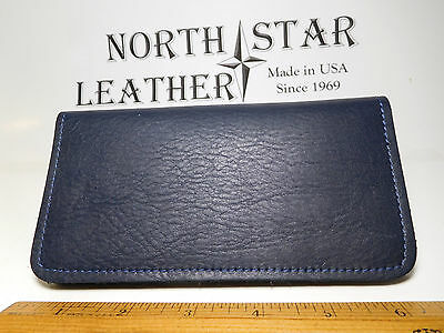 North Star Navy Grain Leather Standard Checkbook Cover-Second-Made In USA#132