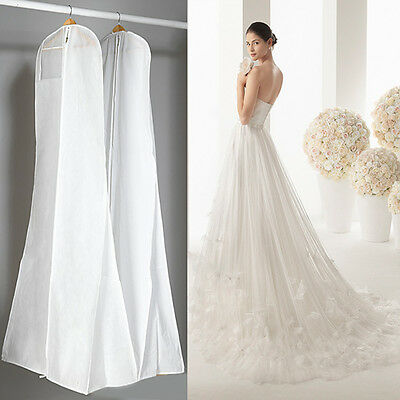 Wedding Dress Bridal Gown Garment Dustproof Breathable Cover Storage Zipper Bag