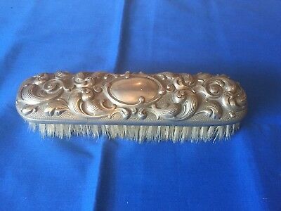 Vintage Silver Capped Antique Vanity Brush