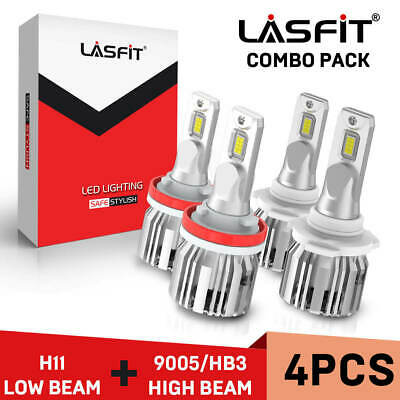 LASFIT LED Headlight Bulb for 2007-2017 Toyota Camry High Beam 9005+Low Beam H11