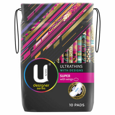 U by Kotex Pad Ultrathin Super Design with Wings 10 NEW