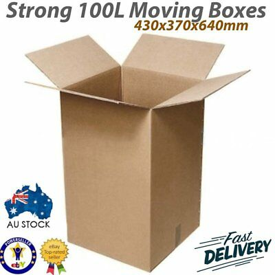 20 X 100L Moving Boxes + Packing Materials Cardboard Removalist Package Deal Bg6
