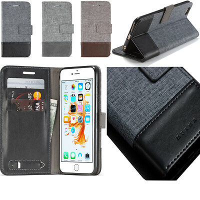 Magnetic Card Slot Wallet Flip TPU Cloth Art Adsorption Leather Case For Phone