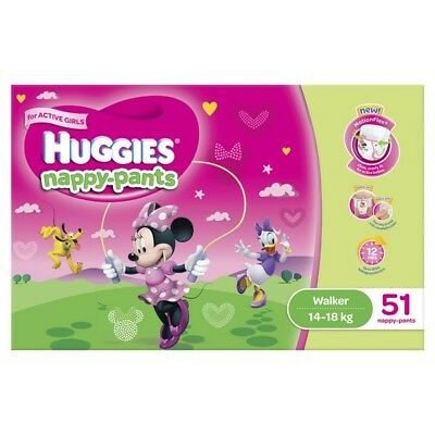Huggies Nappy Pants Walker Girl 14-18kg Jumbo 51 NEW
