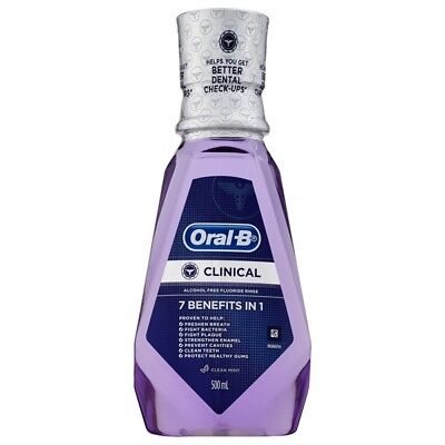 Oral B Clinical 7 Benefits Rinse 500ML NEW Cincotta Chemist